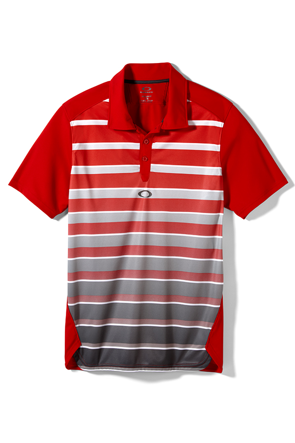 Picture of Oakley Fade Polo Shirt - Red Line