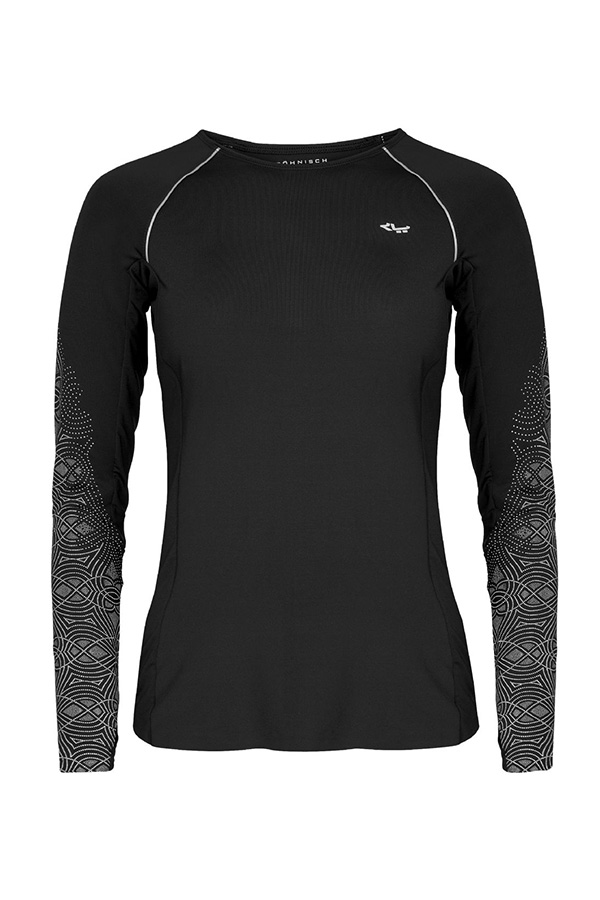 Picture of Rohnisch Cia Run Long Sleeve Top - Black