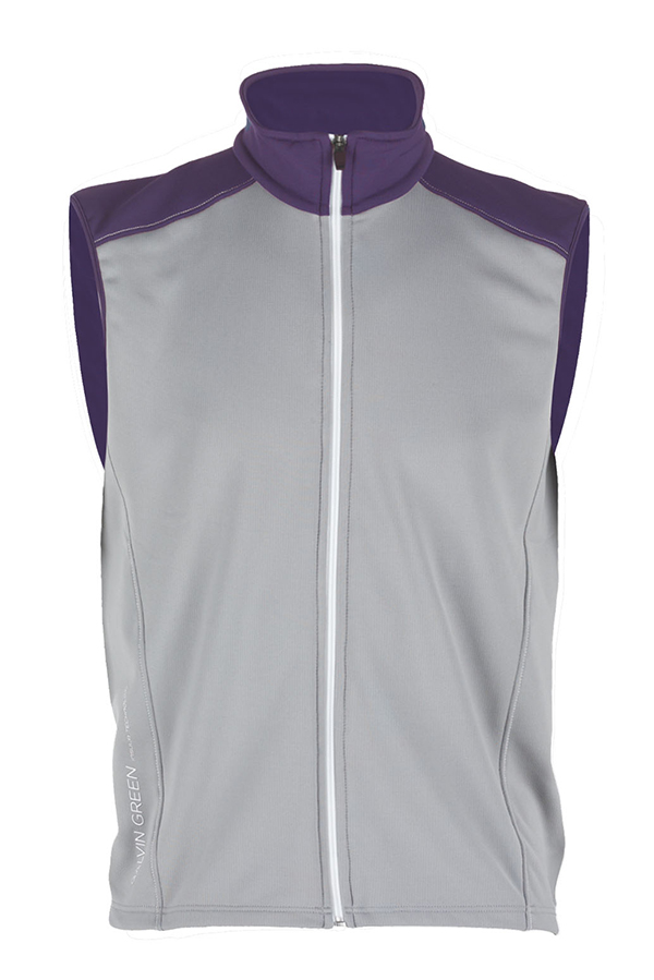 Picture of Galvin Green Denver Bodywarmer - Steel/Plum/White