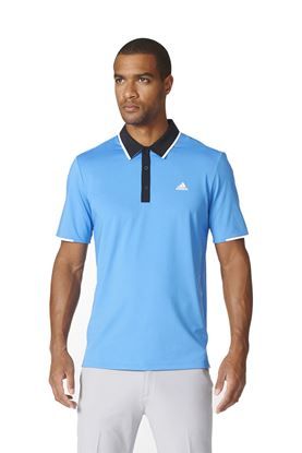 Show details for adidas Climacool Tipped Polo Shirt - Ray Blue / Black