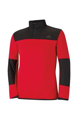 Show details for adidas Climaheat Hybrid 1/2 Zip Shell - Bold Red/Black