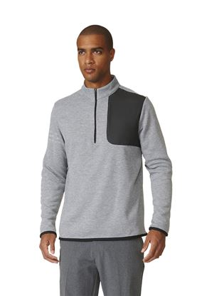Show details for Adidas Performance 1/2 Zip Sweater - Grey Heather