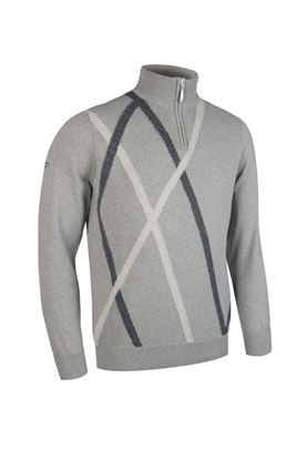 Show details for Glenmuir Middleton Zip Neck Sweater - Soft Grey