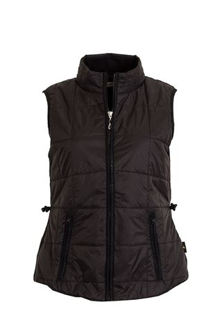Picture of Green Lamb zns Jemima Printed Padded Gilet - Black