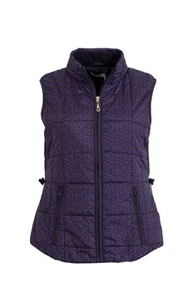 Show details for Green Lamb Jemima Printed Padded Gilet - Navy/Fir