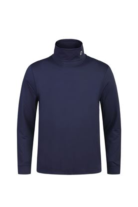 Show details for Oscar Jacobson Birk Classic Rollneck - Navy