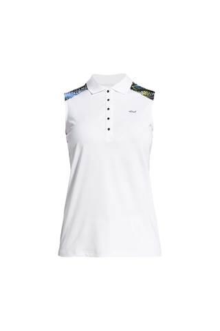 Picture of Rohnisch Print Sleeveless Polo Shirt - Blue Shell Ocean Ripple