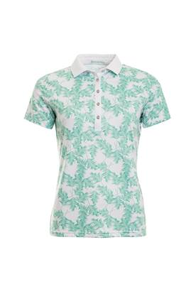 Show details for Green Lamb Patrice Printed Polo Shirt - Green