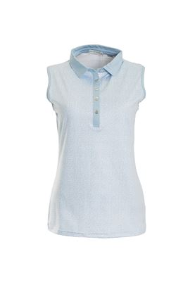 Show details for Green Lamb Pearl Sleeveless Polo Shirt - Blue