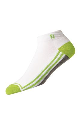 Show details for FootJoy ProDry Fashion Sport Sock - White / Grey / Lime