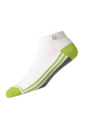 Show details for FootJoy ProDry Fashion Sport Sock - White / Grey / Lime