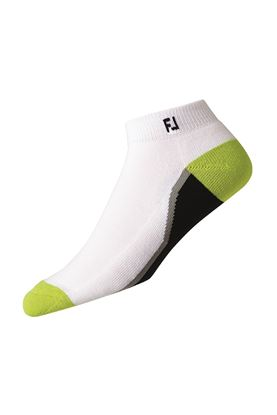 Show details for FootJoy ProDry Fashion Sport Sock - White / Black / Lime
