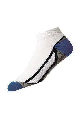 Show details for FootJoy ProDry Fashion Sport Sock - White / Blue / Grey / Black