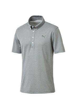 Show details for Puma Golf Oxford Heather Polo Shirt - Laurel Wreath Heather