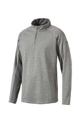 Show details for Puma  Core 1/4 Zip Golf Popover Top - Medium Heather Grey