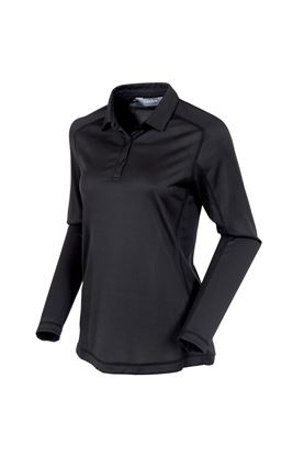 Show details for Sunice Kendra Body Mapping Long Sleeve Polo Shirt - Black