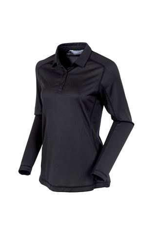Picture of Sunice Kendra Body Mapping Long Sleeve Polo Shirt - Black