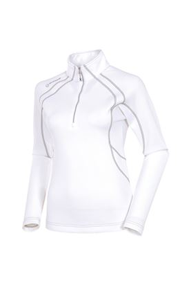 Show details for Sunice Megan 1/4 Zip Pullover - White / Ombre