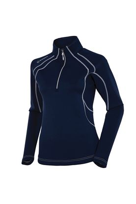 Show details for Sunice Megan 1/4 Zip Pullover - Midnight / Pure White