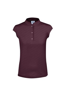 Show details for Daily Sports Lorin Cap Sleeve Polo Shirt - Wine 899