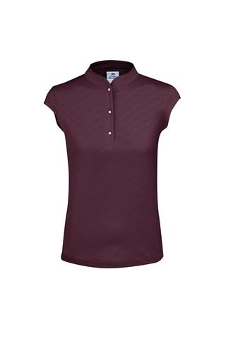 Picture of Daily Sports Lorin Cap Sleeve Polo Shirt - Wine 899