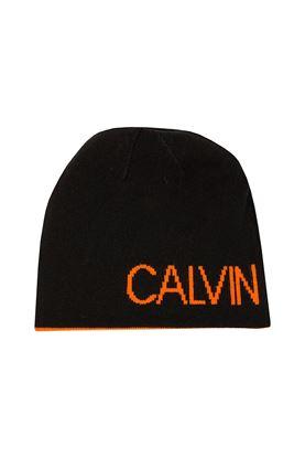 Show details for Calvin Klein CK Golf Logo Beanie - Black / Orange