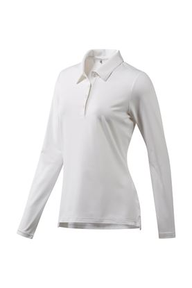 Show details for adidas Ultimate 365 Long Sleeve Polo Shirt - White