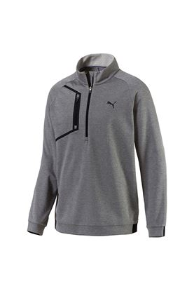 Show details for Puma Golf Envoy 1/4 Zip Sweater - Medium Grey Heather