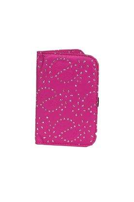 Show details for Surprizeshop Hot Pink Glitter Flower Scorecard Holder - Pink