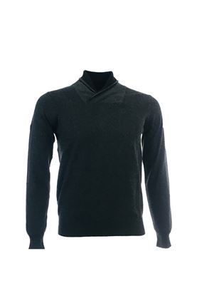 Show details for Glenmuir Wellesley Shawl Collar Sweater - Metalic Marl/Black