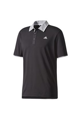 Show details for adidas Climacool Performance Polo Shirt - Black / Mid Grey / White