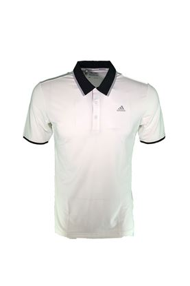 Show details for adidas Climacool Performance Polo Shirt - White / Black / Mid Grey