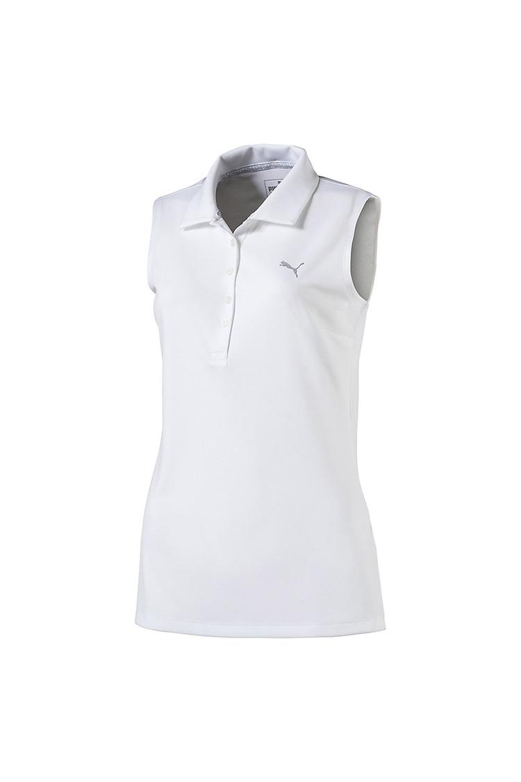 Picture of Puma Golf Women's Sleeveless Pounce Polo Shirt - Bright White