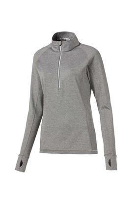 Show details for Puma Golf Women's Rotation 1/4 Zip - Medium Grey Heather