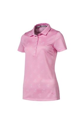 Show details for Puma Golf Women's Burst into Bloom Polo Shirt - Pale Pink