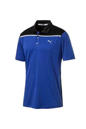 Show details for Puma Golf Men's Bonded Colourblock Polo Shirt - Surf the Web