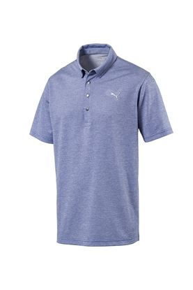 Show details for Puma Golf Men's Grill to Green Polo Shirt - Surf the Web Heather