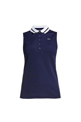 Show details for Rohnisch Pim Sleeveless Polo Shirt - Indigo Night