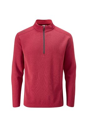 Show details for Ping Men's Ramsey 1/4 Zip Sweater - Rich Red Marl