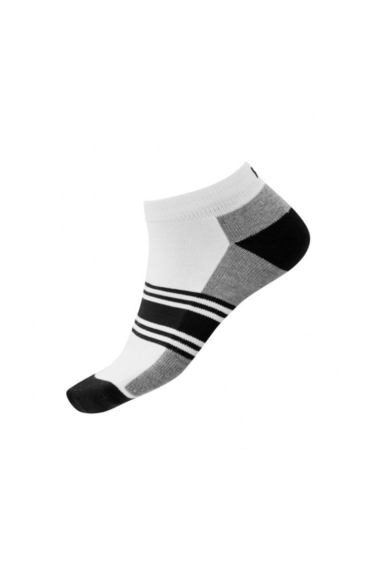 Picture of FootJoy ProDry Fashion Sock - White / Black / Grey