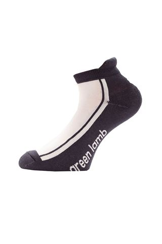 Picture of Green Lamb zns  Colour Block Socks - 3 Pack - White / Navy