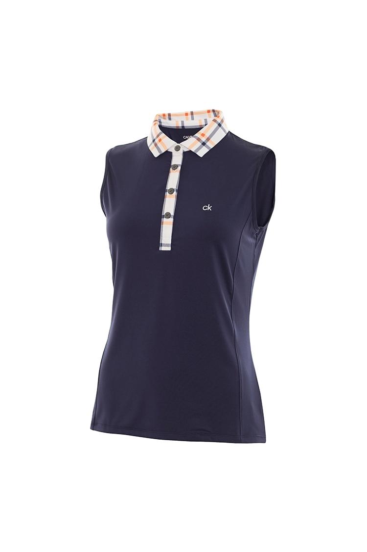 Picture of Calvin Klein zns Heritage Sleeveless Polo  - Bright White / Navy