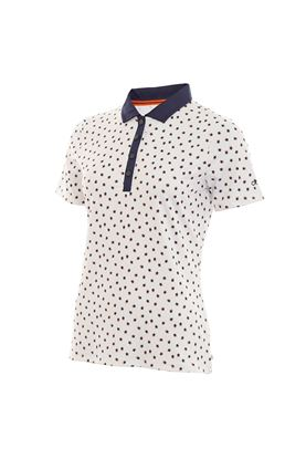 Show details for Calvin Klein zns Americana Polo Shirt - White / Navy