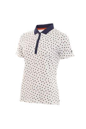 Show details for Calvin Klein zns Americana Polo Shirt - White / Navy