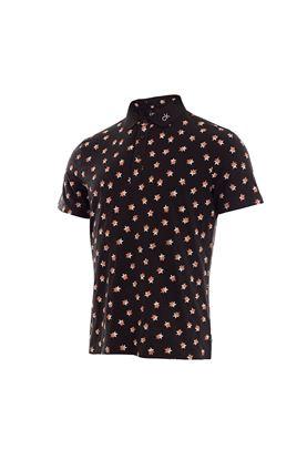 Show details for Calvin klein Men's Scarlar Polo Shirt - Black / Porange
