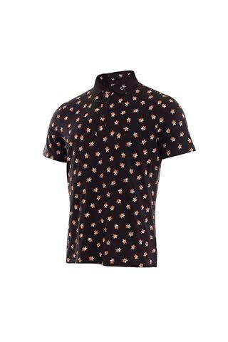 Picture of Calvin klein Men's Scarlar Polo Shirt - Black / Porange