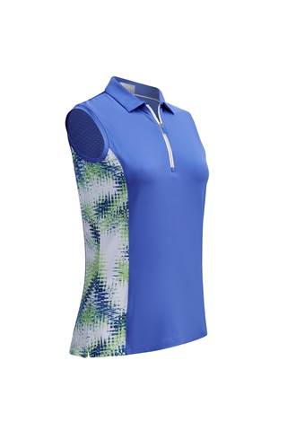 Picture of Callaway Starburst Sleeveless Polo Shirt - Amparo Blue