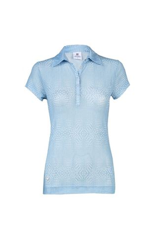Picture of Daily Sport zns Aggie Mesh Cap Sleeve Polo Shirt - Mermaid