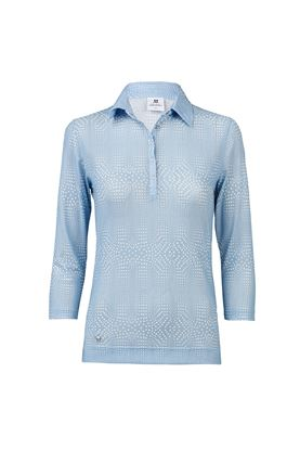 Show details for Daily Sports Aggie 3/4 Sleeve Polo Shirt - Mermaid