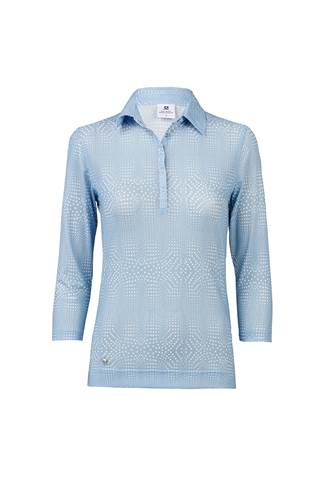 Picture of Daily Sports Aggie 3/4 Sleeve Polo Shirt - Mermaid